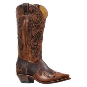 Boulet Gerico Brown Snip Toe Cowboy boot
