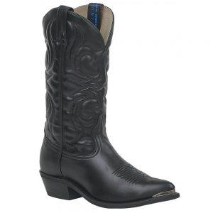 Canada West Bullrider Mens Western Cowboy Boots - Black Manchester