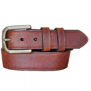 Lejon Vintage Bison Calhoun Belt - Saddle