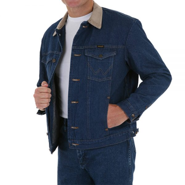 Wrangler Blanket Lined Jean Jacket - Blue Denim