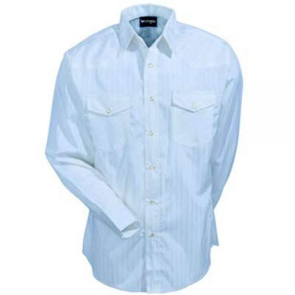 Men's Wrangler Dress Shirt- Blue (Tone on Tone)