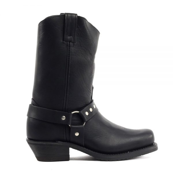Canada West Ladies Biker Boots - Black Loggertan