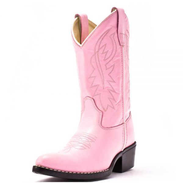 Old West Kids Western Cowboy Boots - Pink