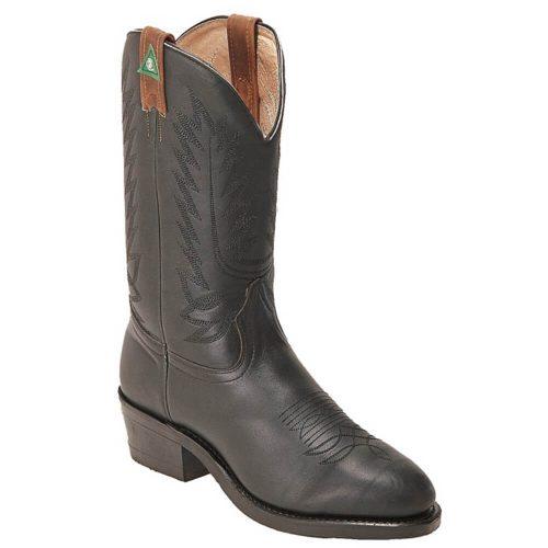 Boulet Mens CSA Work Cowboy Boot - Mercedez Grasso Black Logger
