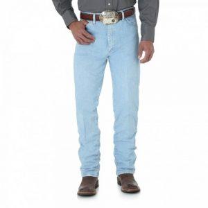 Wrangler 936GBH Men's Slim Fit Jeans - Bleached Wash