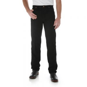 Wrangler 936WBK Men's Slim Fit Jeans - Black