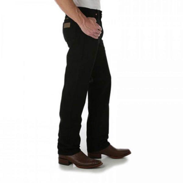 Wrangler 936WBK Men's Slim Fit Jeans - Black