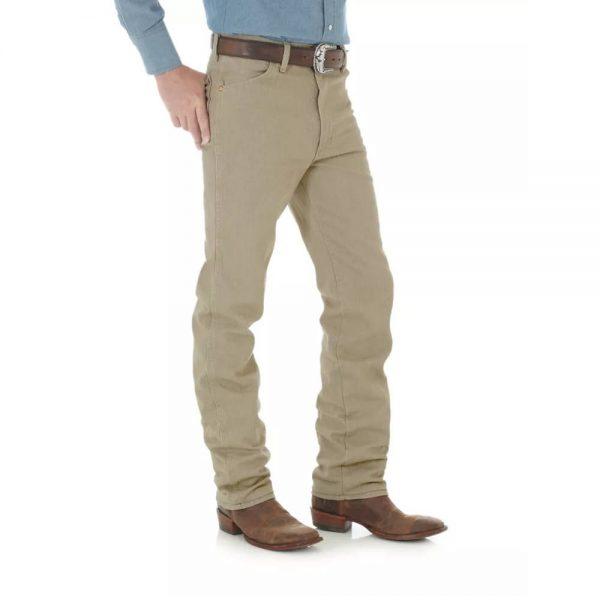 Wrangler® Cowboy Cut® Slim Fit Jean In Prewashed Tan