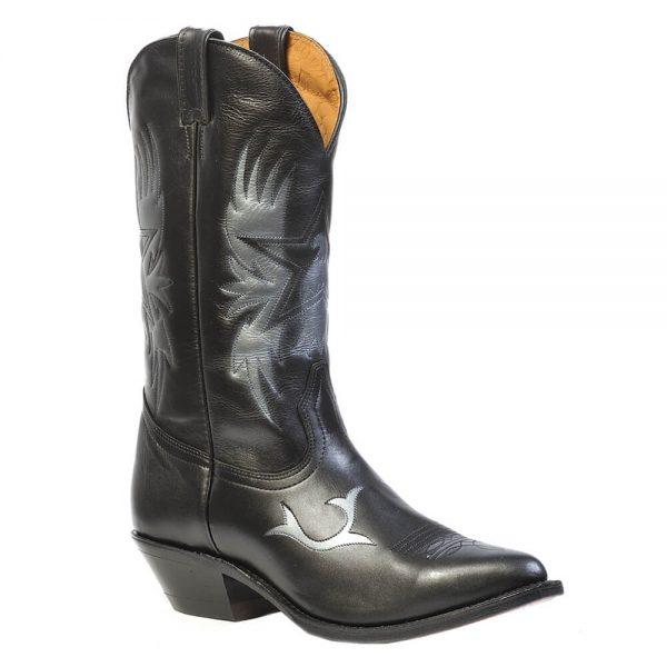 Boulet Mens Western Cowboy Boots - Genesis Black