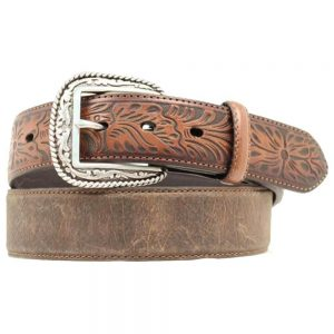 Ariat Distressed Hand Tooled Leather Belt
