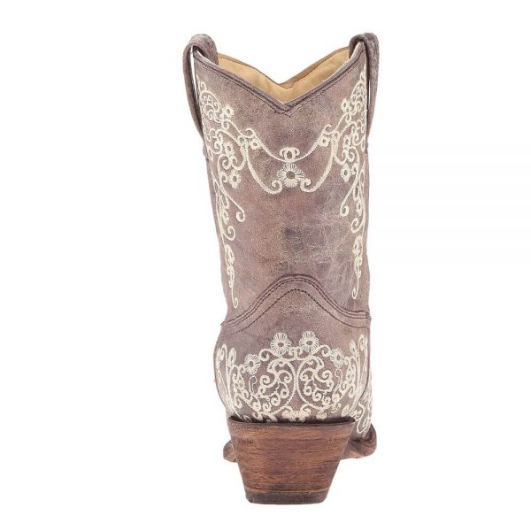 Corral Boots - Women's Snip Toe Tobacco Short Boot