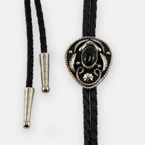 Austin Accent Bolo Tie - Black Stone - AC57B