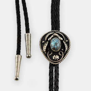 Austin Accent Bolo Tie - Turquoise Stone - AC57T