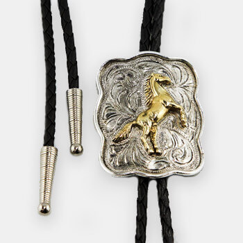 Austin Accent Bolo Tie - Rearing Horse