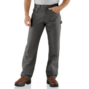 Carhartt Loose Fit Canvas Carpenter Jean - Charcoal