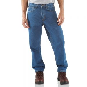 Carhartt Relaxed Fit Tapered Leg Jean - Stonewash