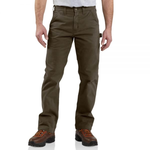 Carhartt Relaxed Fit Washed Twill Carpenter Dungaree - Dark Coffee