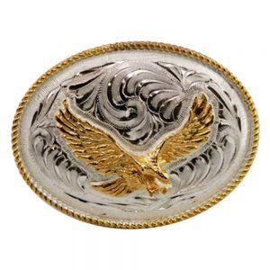 Austin Accent Oval Belt Buckle - Eagle