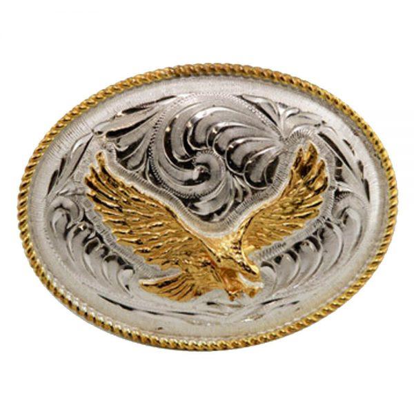 Austin Accent Oval Belt Buckle - Eagle