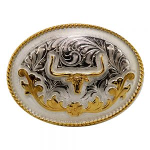 Austin Accent Oval Belt Buckle - Longhorn