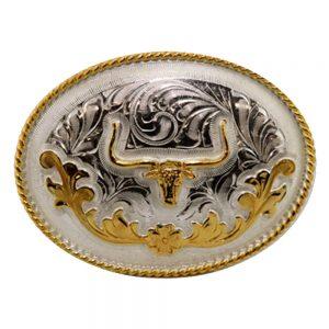 Austin Accent Oval Belt Buckle - Longhorn