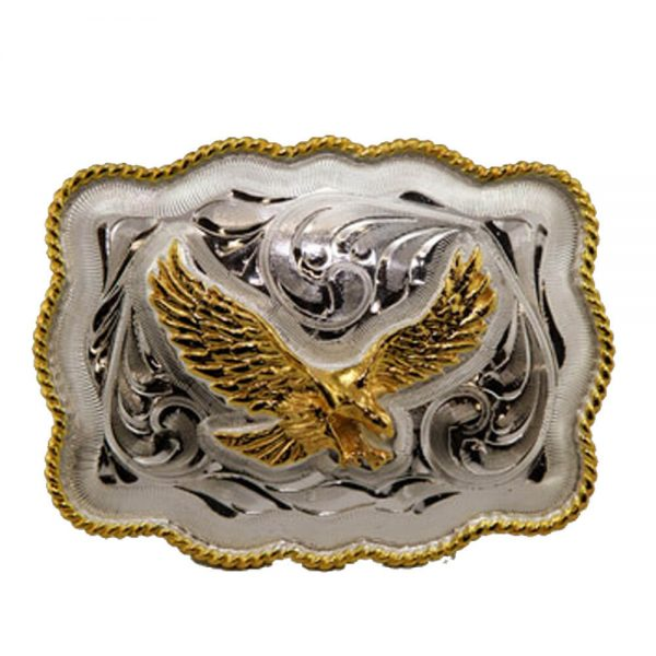 Austin Accent Rectangular Belt Buckle - Eagle