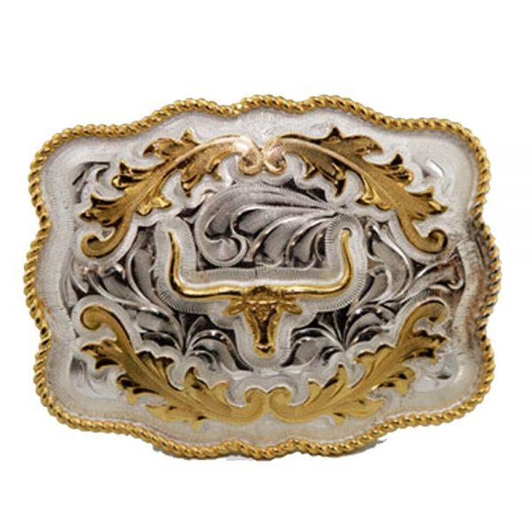 Austin Accent Rectangular Belt Buckle - Longhorn
