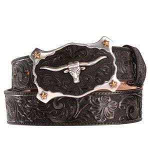 Justin Classic Longhorn Belt - Black