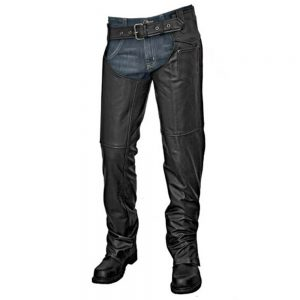 Interstate Unisex Motorcycle Chaps - Black