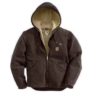 Carhartt Men's Sandstone Sierra Jacket/Sherpa Lined