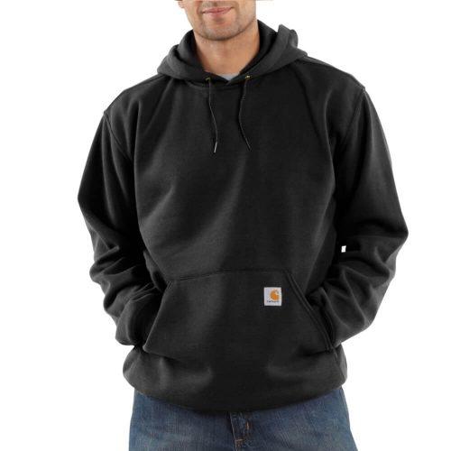 Carhartt Men's Midweight Hooded Pullover Sweatshirt - Black