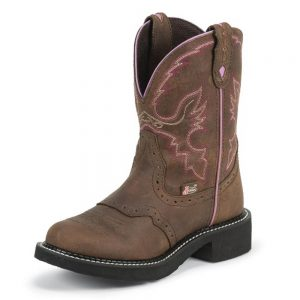 Justin Ladies Gypsy Cowboy Boots - Aged Bark