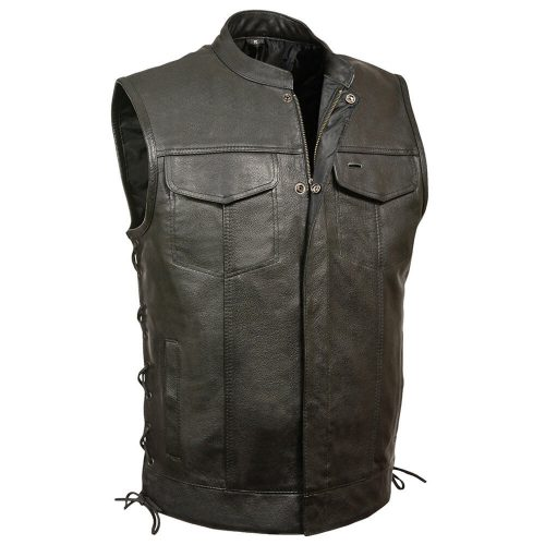 Milwaukee Men's Scooter Collar Vest with Zip and Side Lace