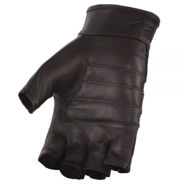 Milwaukee Leather Platinum Men's Leather Mesh Fingerless Gloves