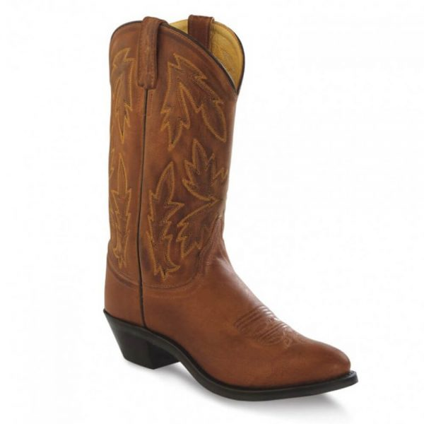 Old West Ladies Western Cowboy Boots - Tan Canyon