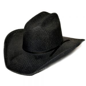 Black Tight Weave Cowboy Hat