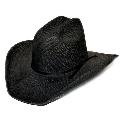 Black Tight Weave Cowboy Hat