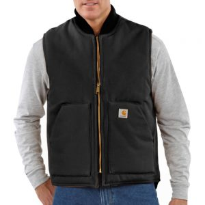 Carhartt Men's Duck Vest/Arctic-Quilt Lined - Black