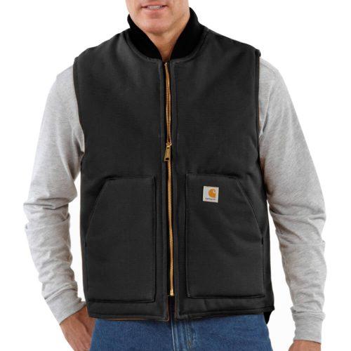Carhartt Men's Duck Vest/Arctic-Quilt Lined - Black