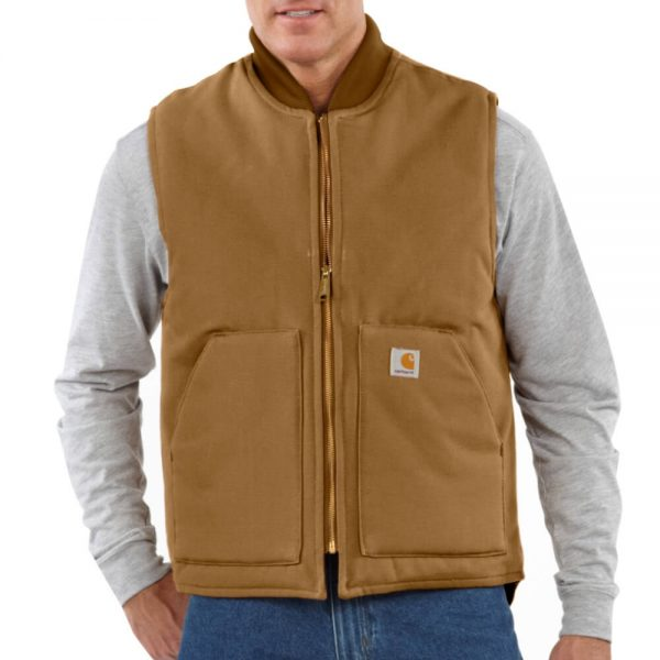 Carhartt Men's Duck Vest/Arctic-Quilt Lined - Brown