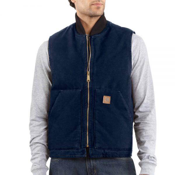 Carhartt Men's Sandstone Vest/Arctic-Quilt Lined