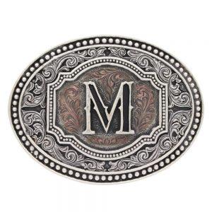 Montana Silversmith Attitude Buckle - Initial - Two Tone Cameo