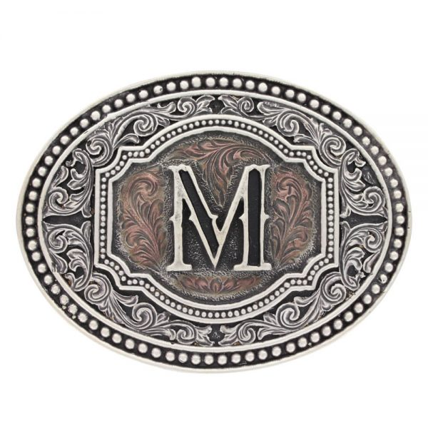 Montana Silversmith Attitude Buckle - Initial - Two Tone Cameo