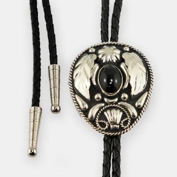 Austin Accent Bolo Tie - Black Stone