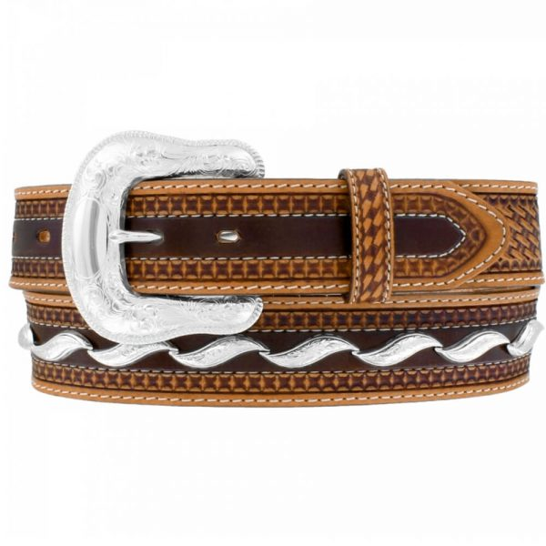 Tony Lama Men's Tooled leather Belt