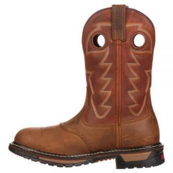 Rocky Original Ride Branson Saddle Roper Waterproof Western Boot