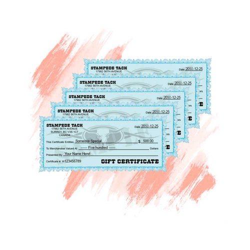 Stampede Tack Gift Certificate