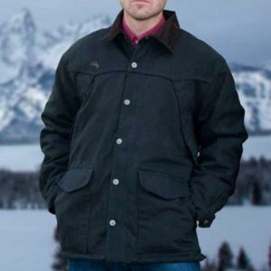 Wyoming Traders Men's Ranch Canvas Coat - Black
