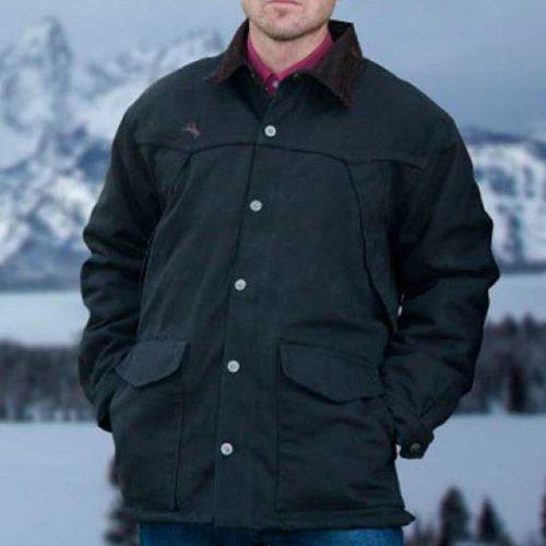 Wyoming Traders Men's Ranch Canvas Coat - Black