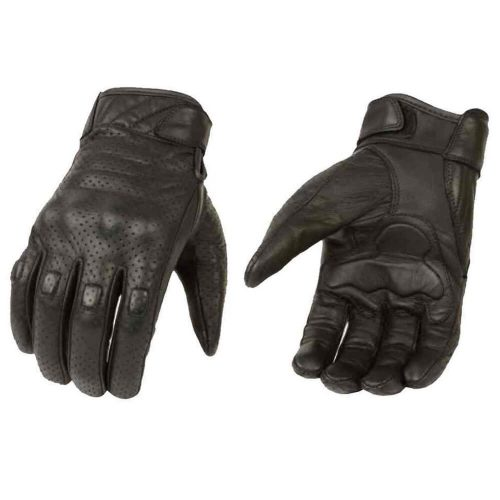 Milwaukee Leather Men's Premium Leather Perforated Cruiser Gloves